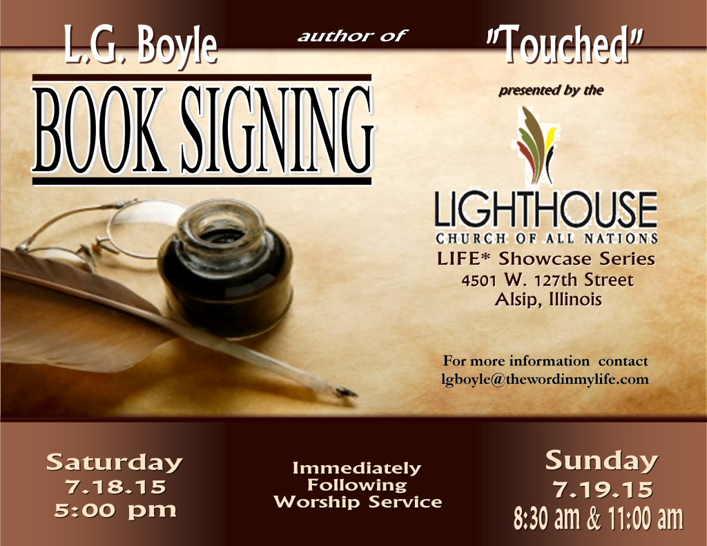 """Touched"" Book Signing"